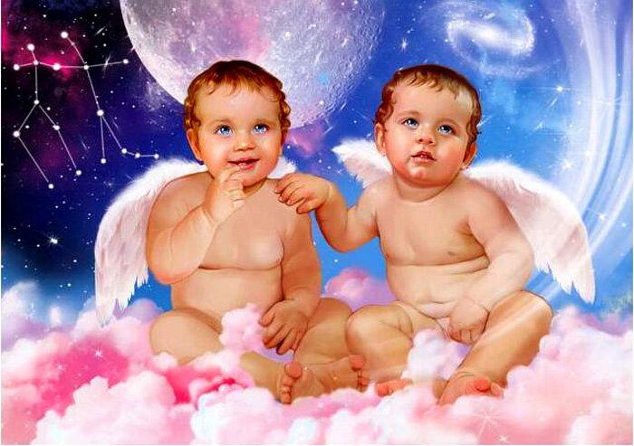 Открытки мальчики близнецы, попугайчиками