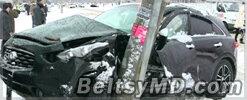 30 ДТП произошли в Кишинёве из-за обильного снегопада