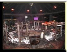 Кения. Найроби. Ресторан Carnivore
