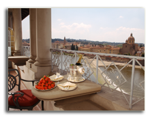 Италия. Флоренция. The St. Regis Florence. Royal Suite 4th Floor Terrace