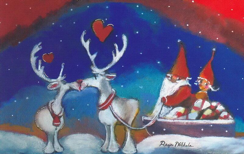Поздравление мужу, рождественская открытка финляндия