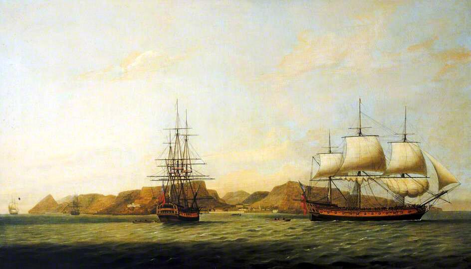 The East Indiaman Northumberland off Saint Helena by Thomas Luny.jpg
