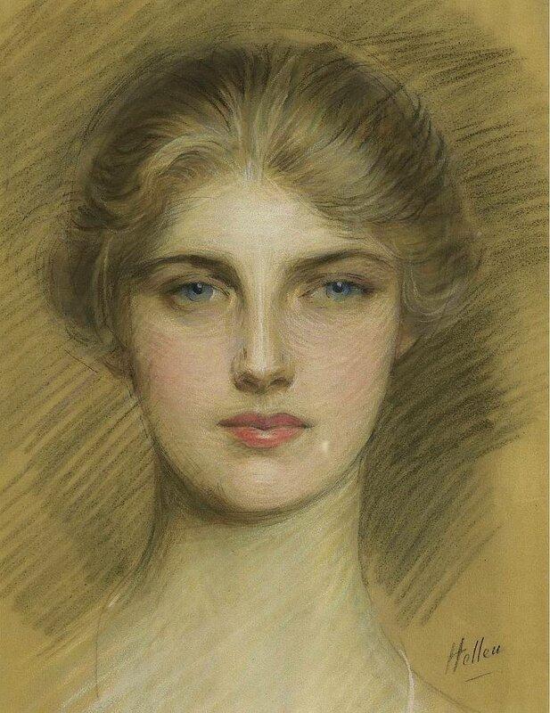 Paul Cesar Helleu - Portrait of a Young Woman, 1920