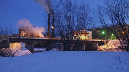 Фото города Инта №3296  Западная сторона моста