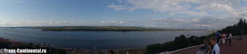 Панорама со Чкаловской лестницы в Нижнем Новгороде