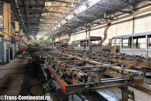 Трамвайные стапели Усть-Катавского вагоностроительного завода