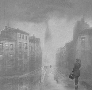 Ты входишь в город-призрак