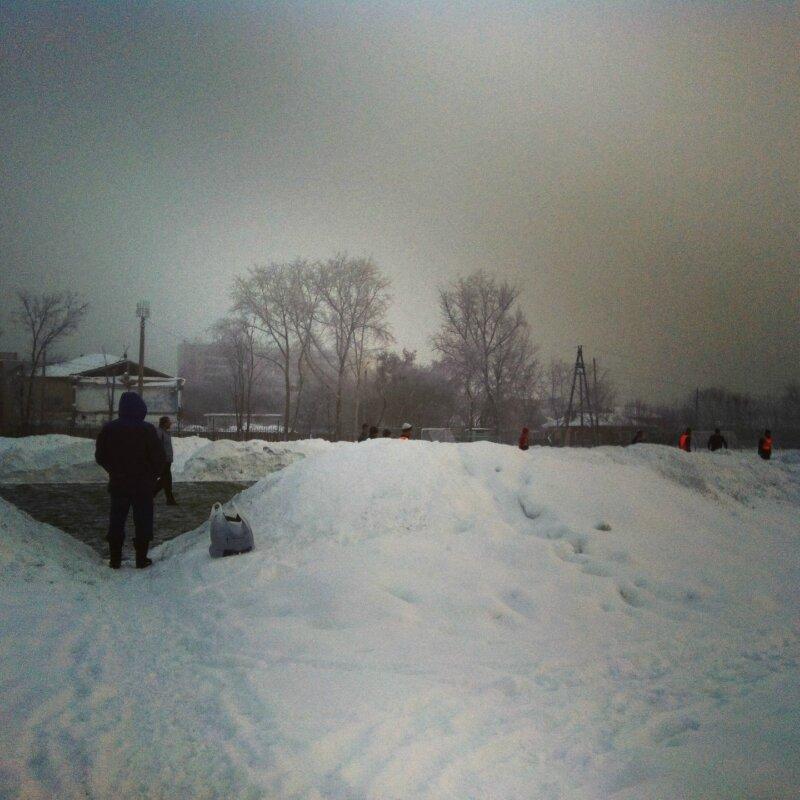 Снегопад с туманом