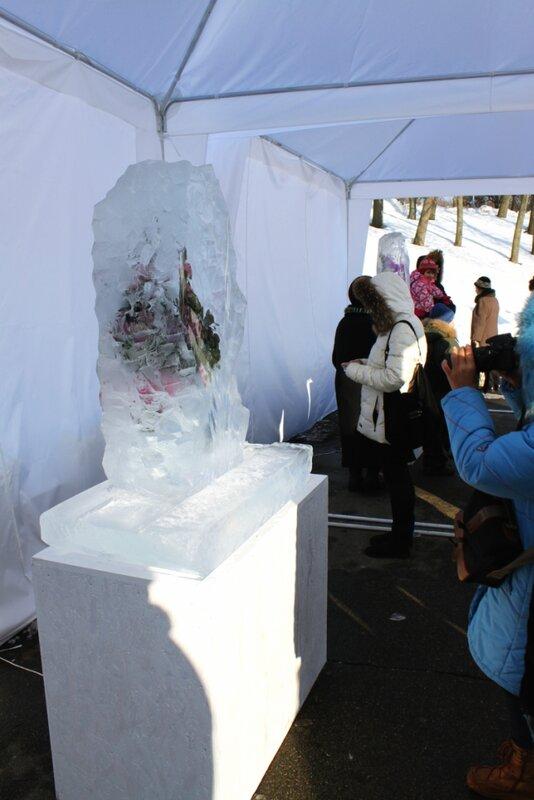 Экспозиция Выставки цветов Снежной Королевы