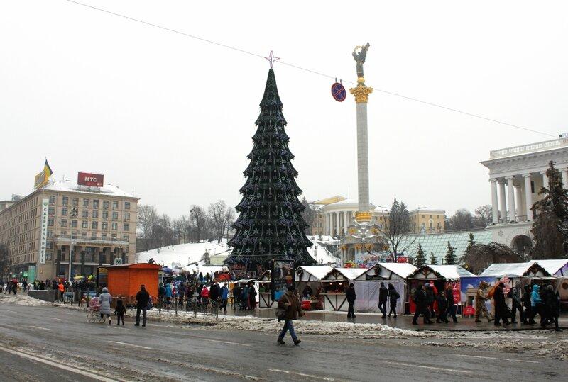 Главная елка Киева 19 января 2013 года