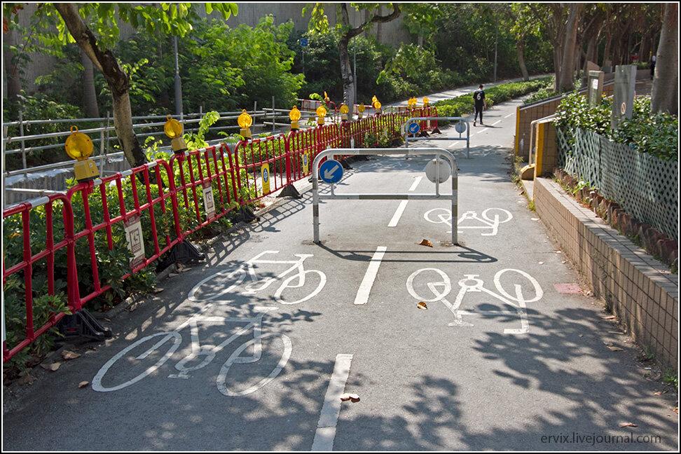 Велосипедные дорожки в Гонконге