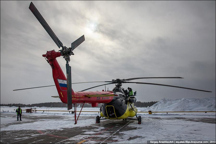 Полет на МИ-8 над Сургутом