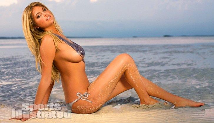 бодиарт - голая Кейт Аптон в нарисованном купальнике / Kate Upton - Sports Illustrated 2013 Bodypaint