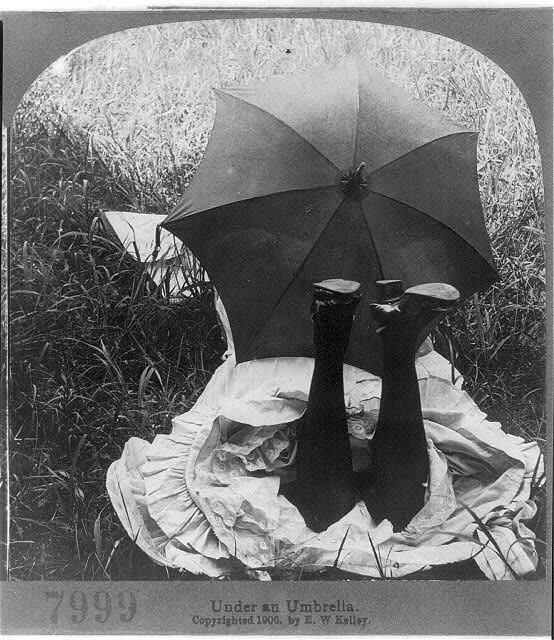 Under an umbrella 1906.