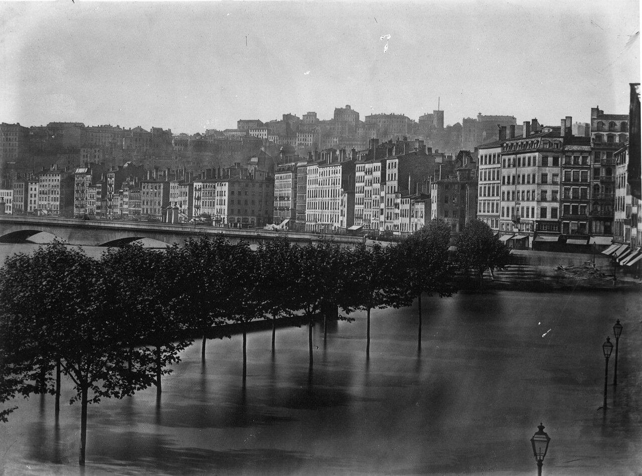 1856. Вид моста, причала и пристани.