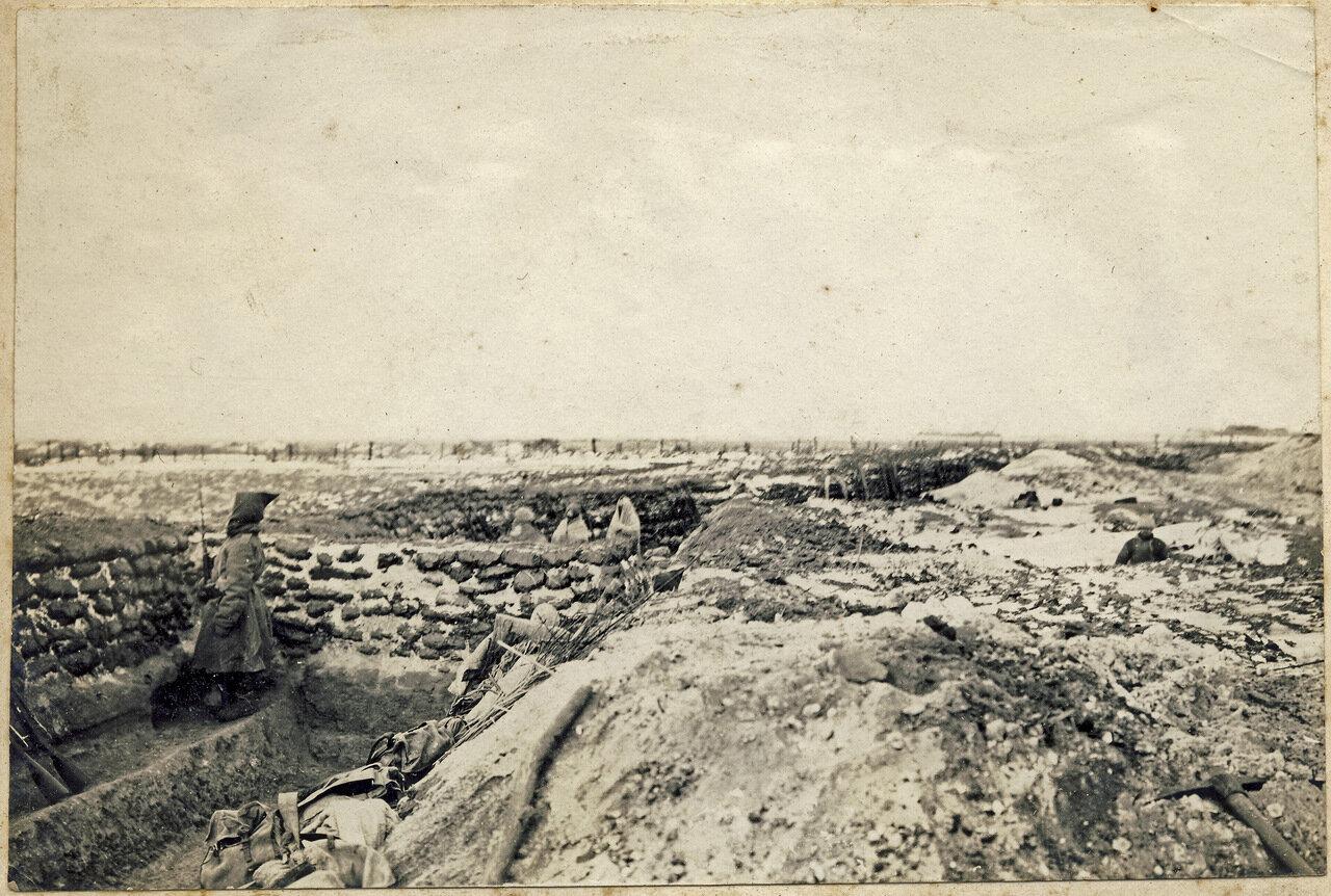 Полевые укрепления, под частым обстрелом японцев. Маньчжурия. 1905 год.