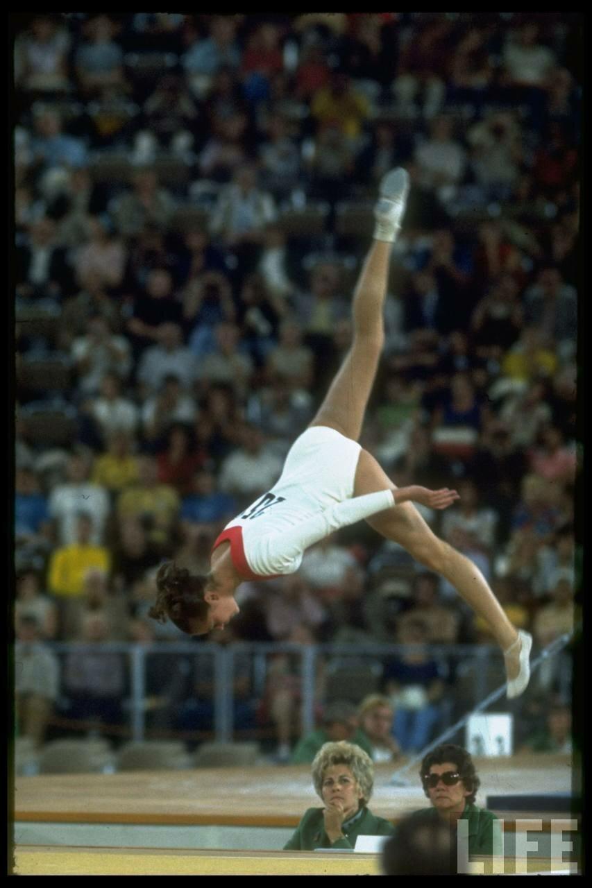 Гимнастка Любовь Бурда на летних Олимпийских играх
