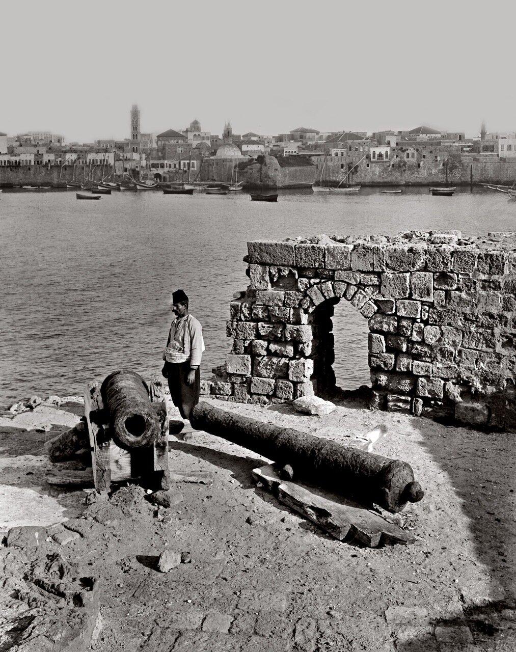 Вид Акко с моря. Палестина. 1900-1920