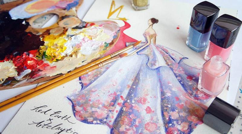 Модные фантазии, созданные при помощи  лака для ногтей