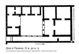 Античный дом в Приене, план