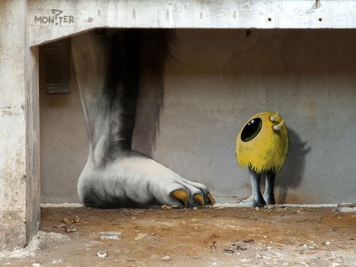 1. Kim Kwacz, больше известный как Kim Koster, является уличным художником, специализирующимся на ро