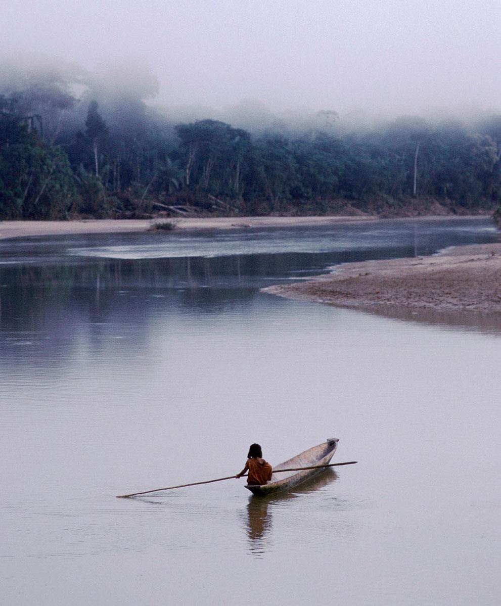 9. Дети племени ашанинка учатся охотиться и рыбачить в раннем возрасте. Многие представители племени