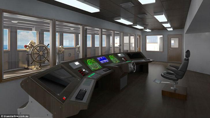Командный мостик «Титаника II».
