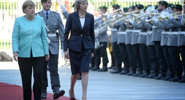 Тереза Мэй повстречалась сАнгелой Меркель