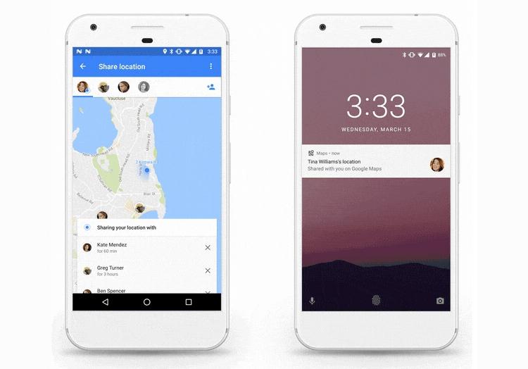 Карты Google помогут моментально поделиться информацией оместоположении