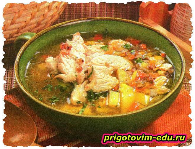 Гречневый суп с индейкой в мультиварке