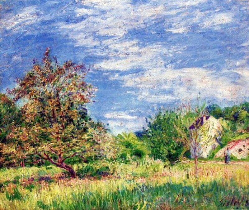 107Alfred Sisley, The Orchard in Spring 1889.jpg
