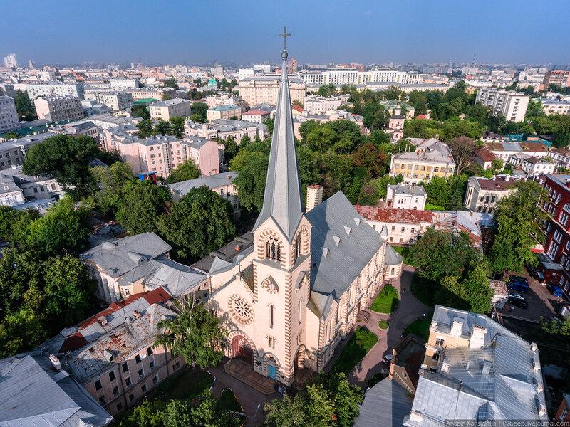 Лютеранская церковь Петра и Павла. Фотографии с дрона - Константин Антипин