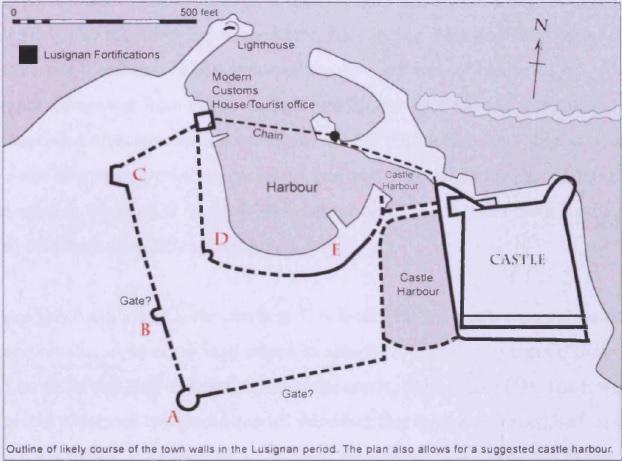 Кирения. План городских укреплений