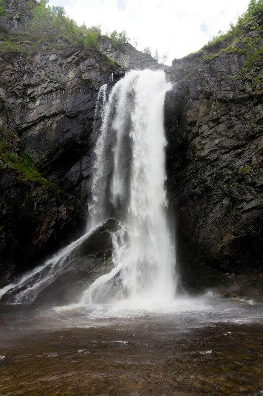 Водопад на реке Мюа (Mya, Myfallet)