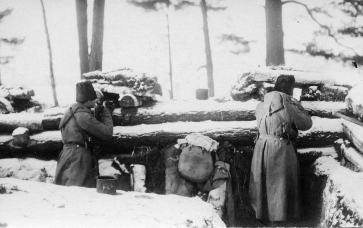 1915. Окопы у деревни Лопухино