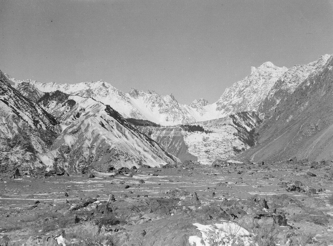 Горы на западной стороне реки Музарт между Янги Махалля и Кайлинь
