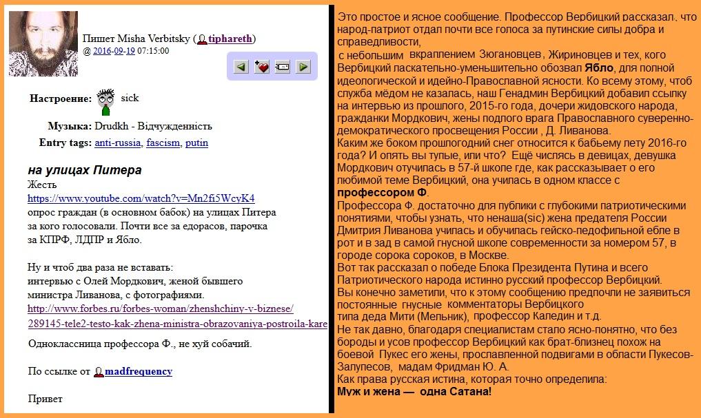 выборы, Вербицкий,Путин,Фридман