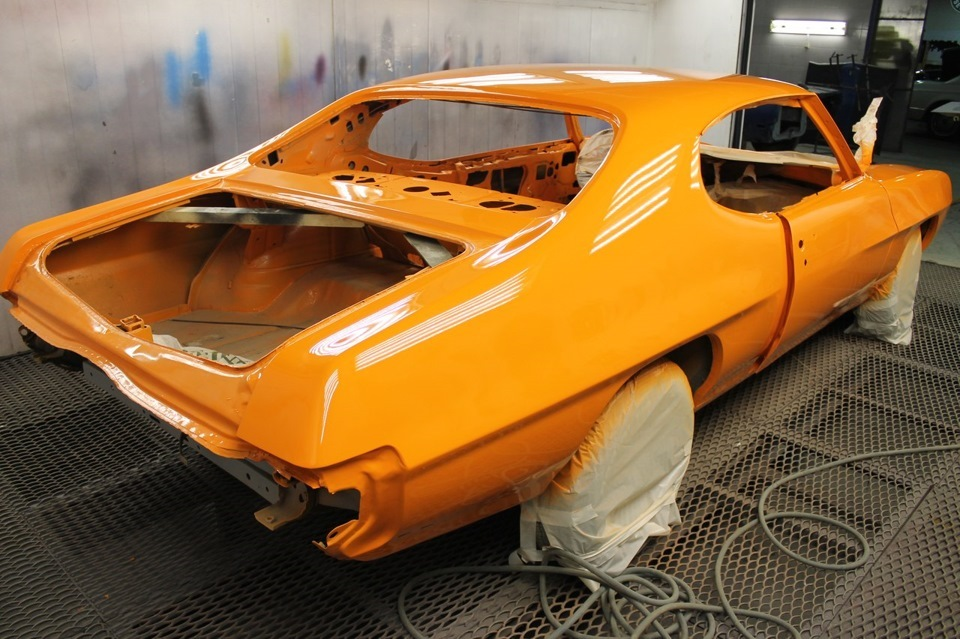 Восстановление Pontiac GTO 1970 The Judge тахометр, капот, самое, крышку, приятное, стекло, интересное, молдинг, покрасили, жизнь, перекочевал, перекочевала, подъемник, днище, будет, обработано, пойдет, антикорозийным, померили, покрытием