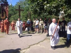 """Активисты """"ПСу"""" в Черкассах провели акцию против деятельности МП"""