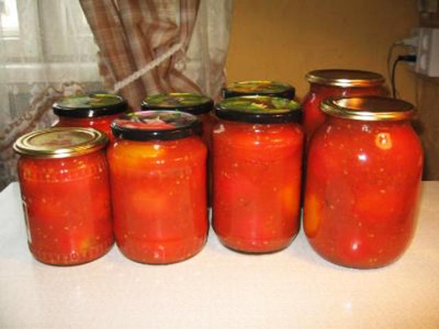 Помидоры в томате соку на зиму рецепты