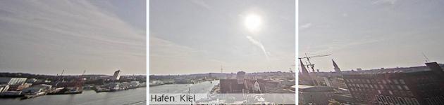 Порту Киль с веб-камер лайнера AIDA AURA