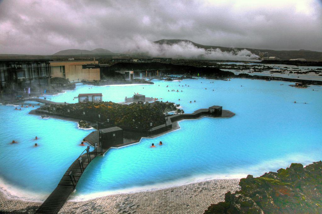 Прекрасная Голубая лагуна в Исландии (Blue Lagoon, Iceland)