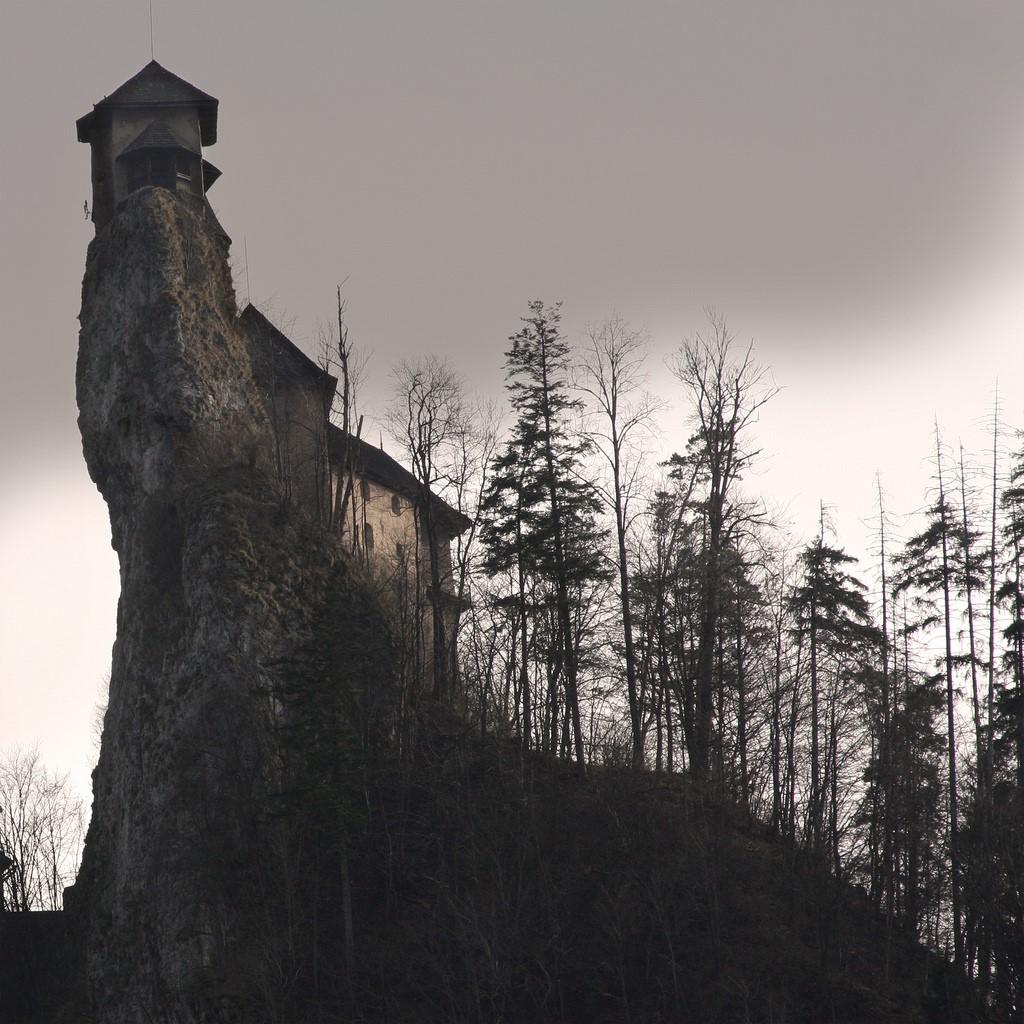 Одним из потрясающих творений средневековых зодчих является Оравский замок (Oravsky hrad - Оравский