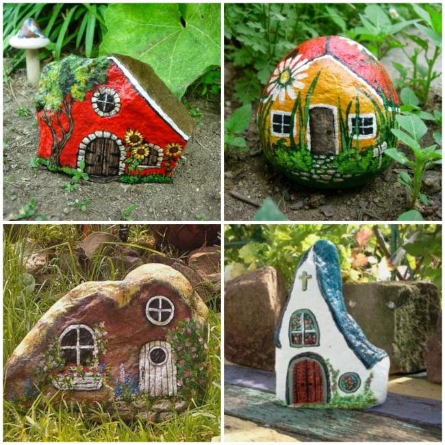 Рисунки накамнях— отличный повод для творчества ипрекрасное украшение сада. Причем выглядит гораз