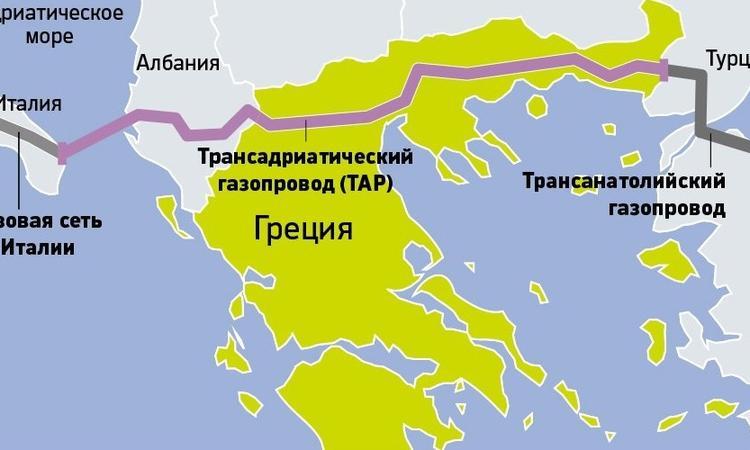 Греция начинает строительство Трансадриатического газопровода