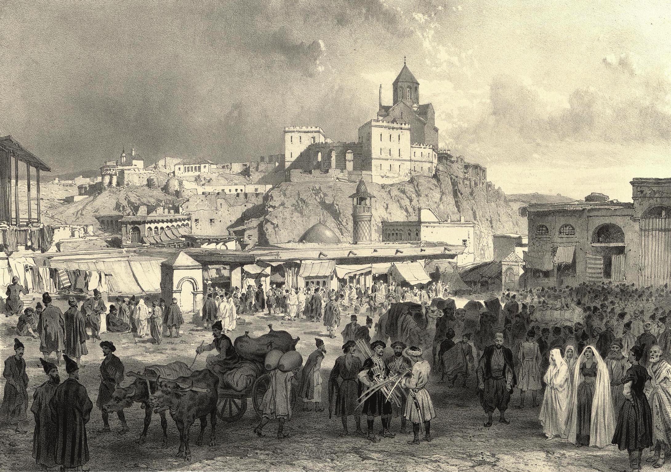 25. Georgie. Maidan, place du Bazar, a Tiflis / Грузия. Майдан, базарная площадь в Тифлисе