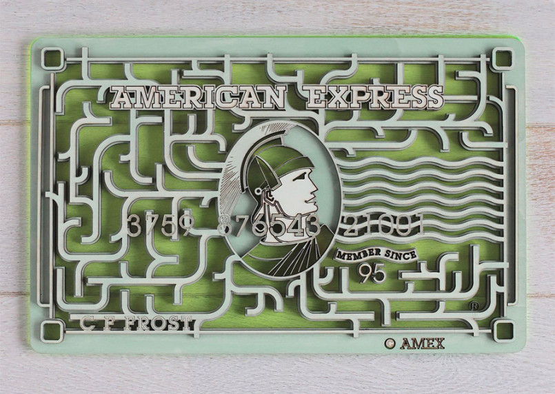 Laser Cut American Express Cards by Vincent Viriot