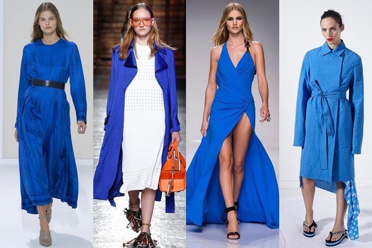 модные цвета весна-лето 2016 - яркий синий