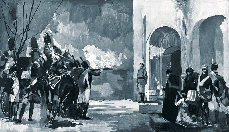 Семён КОЖИН. Расстрел подполковника П.И. Энгельгардта в октябре 1812 года.jpg