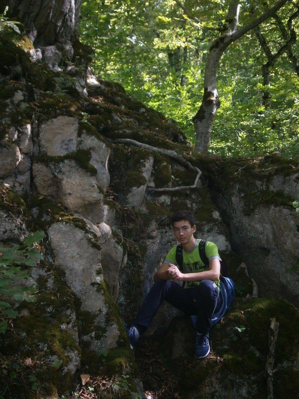 В горах, на тропе